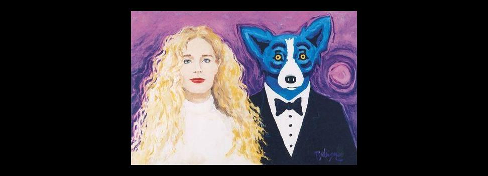 Painting Blue Dog 'blue Dog' Painting Valued at