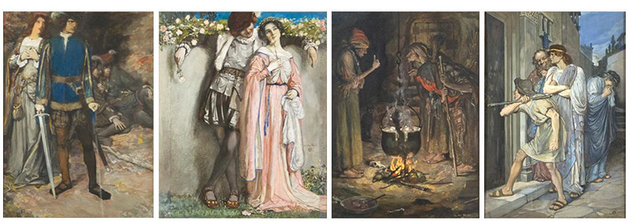 Norman Price. Illustrations for Tales of Shakespeare, 1905. Opague watercolor on illustration board.