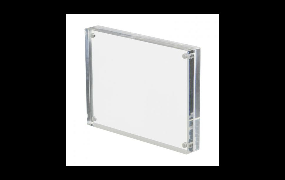 Why acrylic glass is advantageous over glass for picture frame?