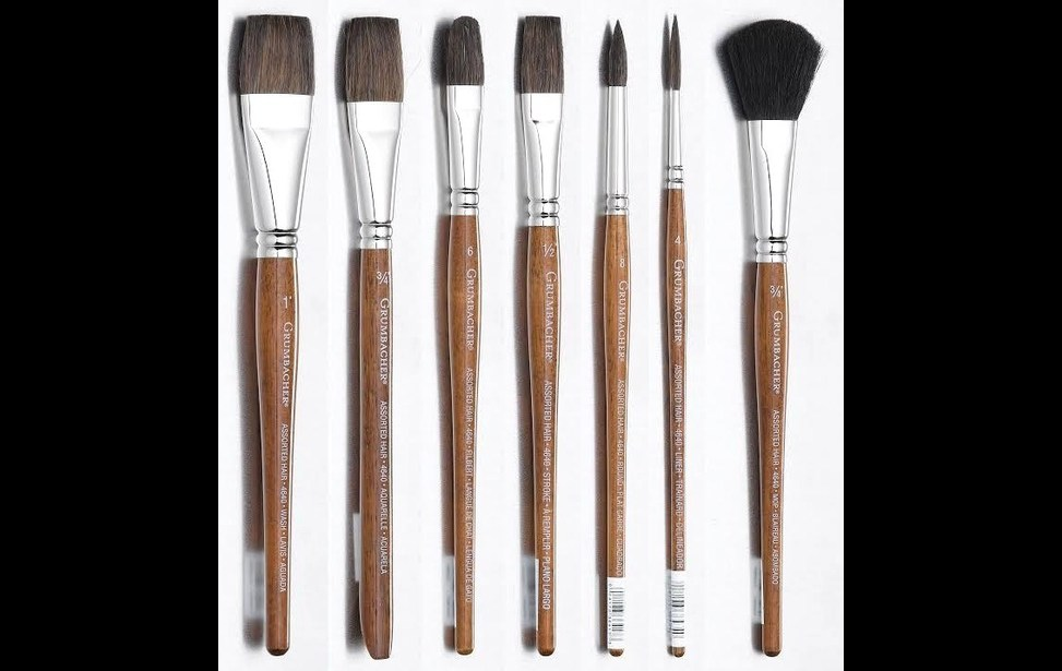 Knowing The Types And Shapes Of Artist Brushes