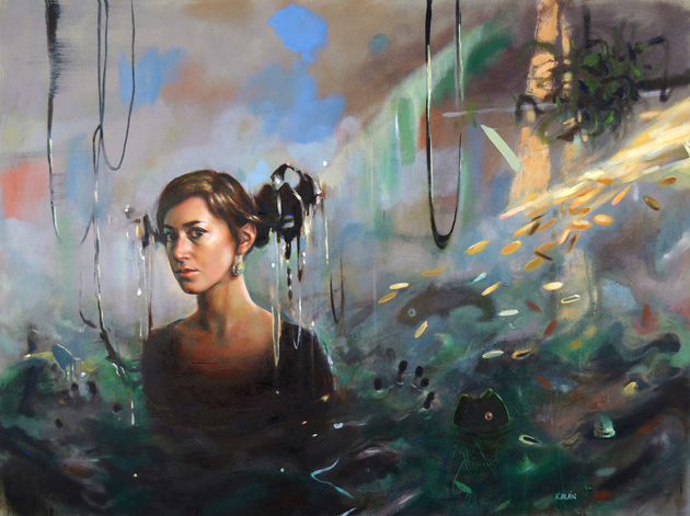 Observing Culpability, oil on canvas, 36