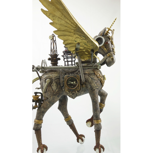 winged horse scultpure