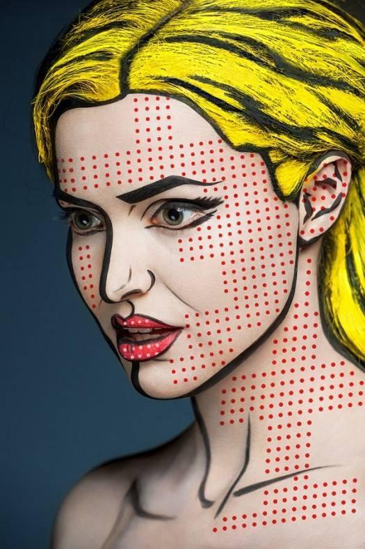 Intimidating makeup artist