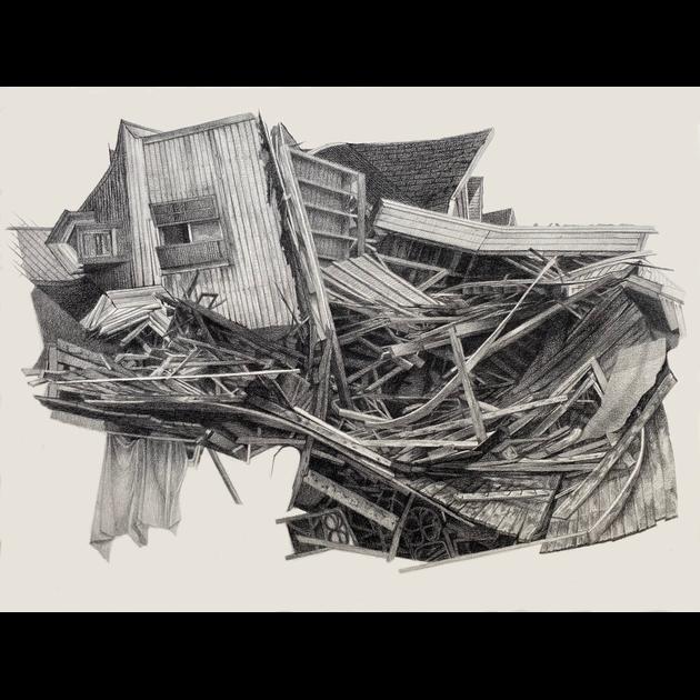 """Nest: 2019, charcoal pencil/graphite, 18.5x22"""""""