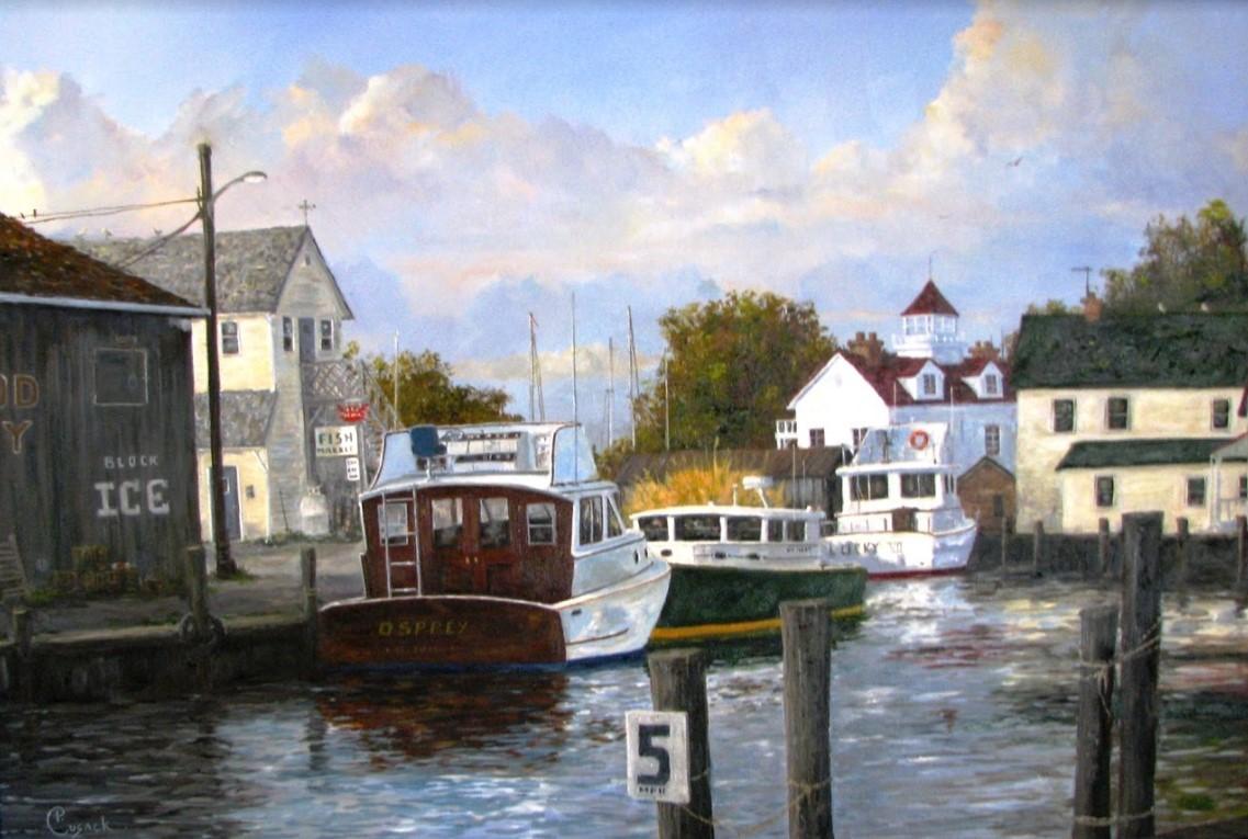 Pat Cusack. Osprey. Oil paint, 2012.