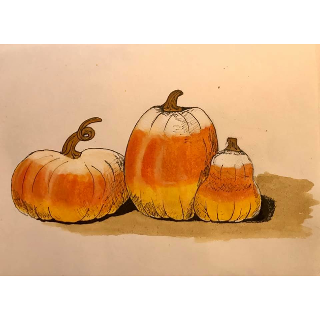 Inktober Day 19 - Candy Corn