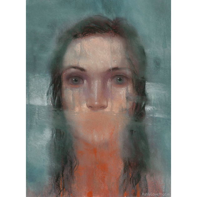 pastel painting of a girl by Ashly Lovett