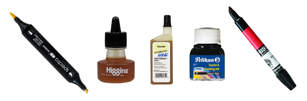 different types of inks and markers