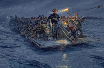 Mort Künstler, Washington's Crossing, 2011, Oil on Canvas